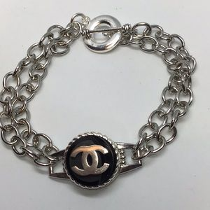 Stainless Steel Designer Authentic Button bracelet